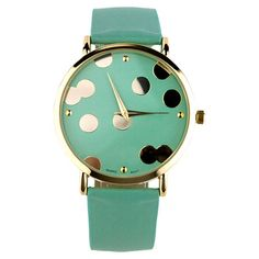 The Confetti Dot Watch in Teal