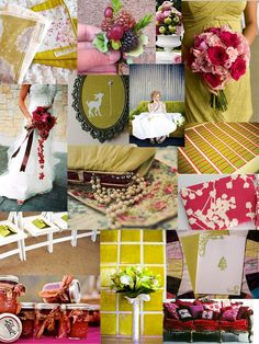 Color Day: Chartreuse and Raspberry | The SweetNest  #TheSweetNest #colorboard #raspberryandchartreuse #weddinginspiration #weddingcolors #chartreuseandpink