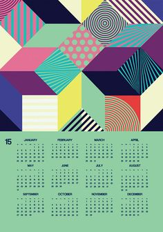 Calendar 2015 wall calendar 2015 abstract pattern by DURIDO