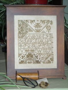 Cross Stitch Quaker Sampler