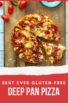 Chewy, golden, utterly delicious deep pan pizza crust inspired by Pizza Hut that's gluten-free! Pizza Hut, Pizza Dough, Pizza Recipes, Gluten Free Recipes, Party Recipes, Meal Recipes, Deep Pan, Biscuits, Vegetarian Cheese
