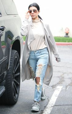a5d7dd6d4fb1 All the Fashion Girls Who Wear Yeezy Boosts via @WhoWhatWear Yeezy Outfit,  Adidas Jacket
