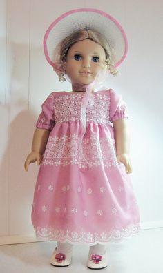 Pink Eyelet Dress for Caroline by LetsPretenDollFashon, $55.00