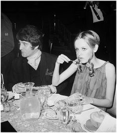 Justin Villeneuve and Twiggy, 1967