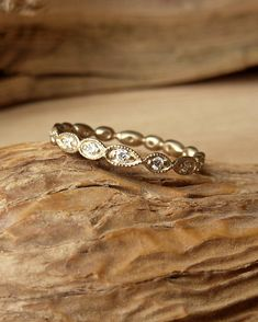 Scalloped Eternity Band by kateszabone on Etsy, $1095.00. This band is beautiful.