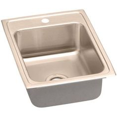 Elkay LRAD1722601-CU Lustertone CuVerro Antimicrobial Copper Single Bowl Top Mount Sink with Single Faucet Hole, Multicolor
