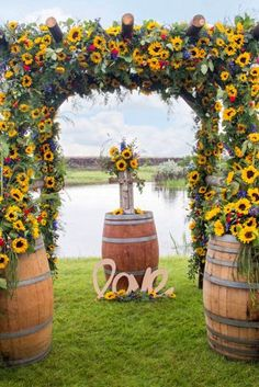 Sunflower Wedding Decor Ideas For You Big Day ❤ See more: www.weddingforwar…… Sunflower Wedding Decor Ideas For You Big Day Wedding Events, Wedding Ceremony, Our Wedding, Dream Wedding, Wedding Stuff, Double Wedding, Wedding Arches, Wedding Games, Sunflower Wedding Decorations