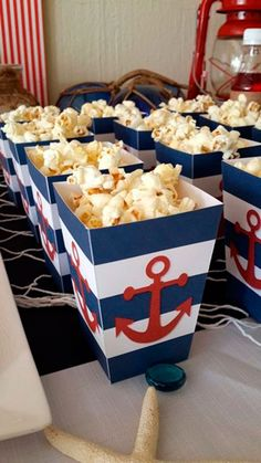 Baby shower food cheap center pieces 67 New ideas Baby Shower Snacks, Fiesta Baby Shower, Cheap Baby Shower, Baby Shower Parties, Baby Boy Shower, Baby Shower Nautical, Sailor Birthday, Sailor Party, Sailor Theme