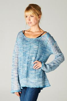 Sandra Crochet Knit Sweater