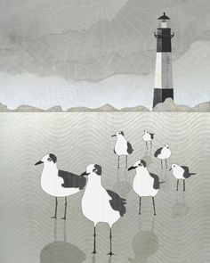 Seagulls' Lighthouse by Aquamarine Studio