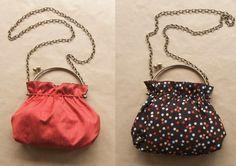 Cómo hacer un bolso reversible con asas metálicas | Manualidades