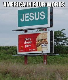 Religious burger-Unexpectedly hijacked billboards
