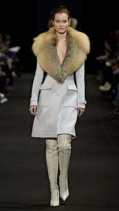 Fur | Altuzarra Fall/Winter 2015Altuzarra did lots of fur necklines, making luxecoats with chic detailing. via @stylelist