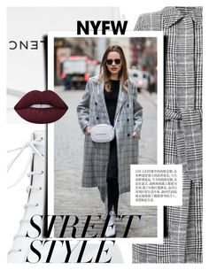 """""""Win It! NYFW: Street Style"""" by cultofsharon ❤ liked on Polyvore featuring Fendi, Balenciaga, Tabitha Simmons and Lime Crime"""