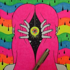 In line for painting. Hippie Painting, Trippy Painting, Painting & Drawing, Trippy Drawings, Art Drawings, Pencil Drawings, Psychedelic Art, Pintura Hippie, Drugs Art