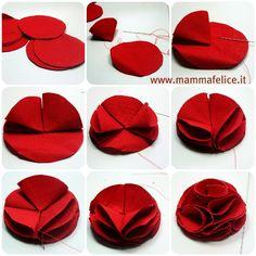 Tutorial per creare una rosa di stoffa.