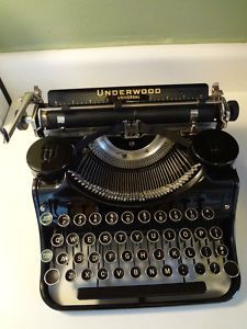 Vtg 1935 Underwood Universal Typewriter