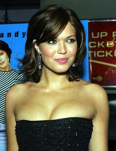 Love Mandy Moore's hair like this!!!  Maybe as my hair grows out it can get this look.