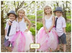 Spring children's photography, cherry orchards.