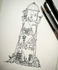 Here's a cool #lighthouse #illustration from Rob Turpin (@thisnorthernboy) that…