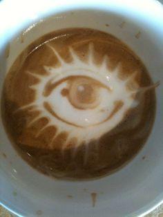 Coffee art by Johnny Blanco.