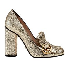 GUCCI Gucci Women'S 408206Dkt007100 Gold Leather Heels. #gucci #shoes #shoes