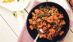 Sweet Potato and Poblano Salad with Honey and Rosemary - Bon Appétit