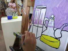 Curset de juliol 2014/15, taller de dibuix i pintura. www.escolatrac.com