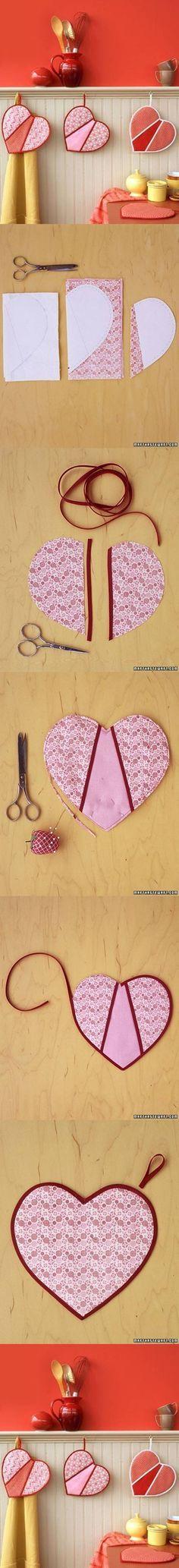 DIY Heart Shaped Pot Holders DIY Projects   UsefulDIY.com Follow Us on Facebook --> https://www.facebook.com/UsefulDiy