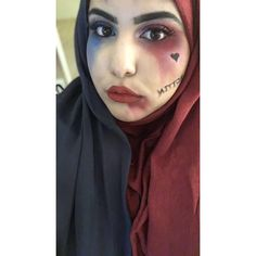 I wear a hijab and this is my Halloween make-up for this year calling it Halal-ey Quinn