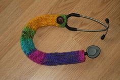 Colorful knit stethoscope cover, sweater, sleeve. great for nurses, doctors, RNs, LPNs. Nursing Accessories. #showmeyourstethoscope show me your stethoscope