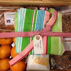 Hostess Gift - Create a breakfast basket filled with homemade goodies like granola, fresh clementines, gourmet coffees beans and a breakfast casserole.  And of course a cook's apron! | @henhouseeveryday on Instagram
