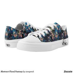 Abstract Floral Fantasy Printed Shoes from ZoeSPEAK