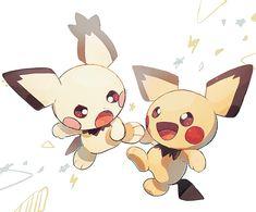 Pokemon Pikachu Evolution, All Pokemon, Cute Pokemon, Pichu Pikachu Raichu, Pokemon Eeveelutions, Pokemon Starters, Pokemon Universe, Pokemon Special, Cute Monsters