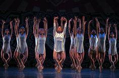 "Miami City Ballet, Dancing Balanchine, Raises the Bar in New York - Members of the Miami City Ballet in ""Heatscape."""