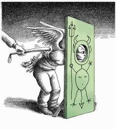 Two Possibilities: Oblivious or Hope (Mana Neyestani) Political Art, Political Cartoons, Satirical Cartoons, Painting & Drawing, Image F, Pictures With Deep Meaning, Satirical Illustrations, Meaningful Pictures, Surreal Photos