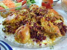 Persian rice with chicken and berberries