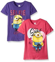 Despicable Me Big Girls' Minion Selfie and Heart Pack of 2, Purple/Pink, 10 Despicable Me http://www.amazon.com/dp/B015S3D1P4/ref=cm_sw_r_pi_dp_AgaVwb00NQ3KY