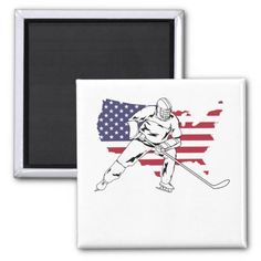 Hockey Player USA map flag patriotic Magnet #fitness #technology #travel hockey bedroom, hockey goalie, ice hockey, dried orange slices, yule decorations, scandinavian christmas Hockey Baby, Hockey Goalie, Hockey Players, Bruins Hockey, Ice Hockey, Field Hockey Outfits, Hockey Bedroom, Hockey Gifts, Yule Decorations