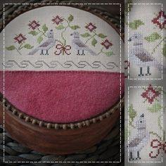 Dove Love / Primitive cross stitch pattern by TheSubRosaDesign