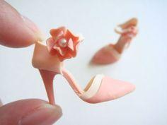 handmade minatures | Handmade Miniature Shoes - Polymer Clay
