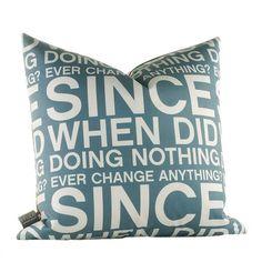 Since When Pillow