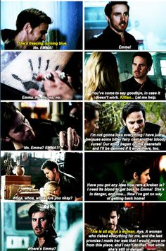 His unswerving and bottomless devotion and loyalty to those he loves is his best, most swoon-worthy quality Once Upon A Time Funny, Once Up A Time, Ouat, Hook And Emma, The Computer, Losing Everything, Tv Couples, Colin O'donoghue, Time Quotes