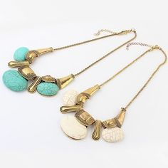 Aliexpress.com : Buy Min.order is $10(mix order) Free Shipping 2013 New Vintage Boho Chic Turquoise Necklace from Reliable boho chic suppliers on Can Fly Co.,Ltd $6.32