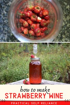 Fruit Preserves, Fruit Jam, Beer Brewing, Home Brewing, Yummy Drinks, Healthy Drinks, Homemade Wine Recipes, Happy Drink, Strawberry Wine