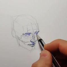 Anatomy Sketches, Anatomy Drawing, Anatomy Art, Head Anatomy, Pencil Art Drawings, Art Drawings Sketches, Pencil Sketching, Realistic Drawings, Art Illustrations
