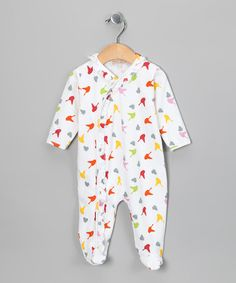 Take a look at this White Birdie Isabella Footie - Infant by Pippen Lane on #zulily today!