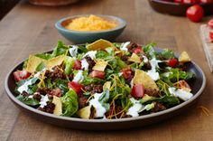 Quick Taco Salad Recipe - As many variations as there are people.  We like ours either topped with salsa, avocado and light sour cream or Catalina dressing.
