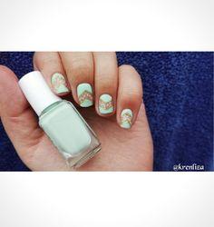 Nails menta 😱 Elegante 😍💟 #nails
