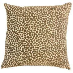 "The Pillow Collection Meltem Animal Print Throw Pillow Size: 18"" x 18"""